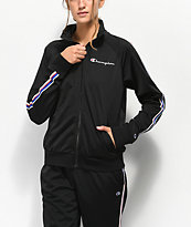 Champion Black & Striped Track Jacket