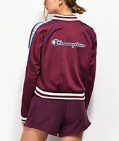 Champion Burgundy & Blue Taping Track Jacket