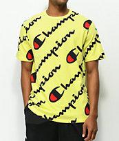Champion Explode Script Yellow T-Shirt