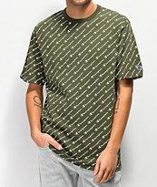 Champion Heritage Allover Script camiseta verde