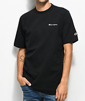 Champion Heritage Embroidered Script camiseta negra