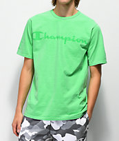 Champion Heritage Script camiseta verde