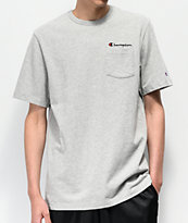 Champion Heritage camiseta gris con bolsillo