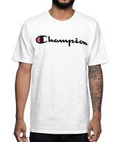 Champion Logo camiseta blanca