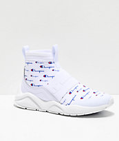 Champion Rally Script White Shoes