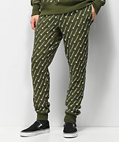 Champion Reverse Weave All Over Print Hiker joggers verdes