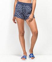 Champion Reverse Weave All-Over Script shorts azul marino