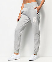 Champion Reverse Weave Floss Stitch C Grey Jogger Sweatpants
