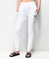 Champion Reverse Weave White Jogger Sweatpants