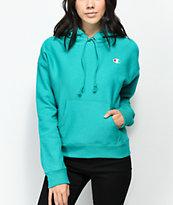 Champion Reverse Weave sudadera con capucha en verde azulado