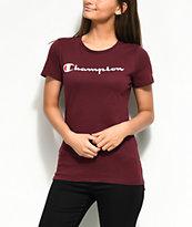 Champion Script Burgundy T-Shirt