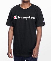 Champion Script camiseta negra