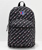 Champion Supercize Logo Script Black Backpack