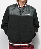 Champion V3375 Sherpa Black Bomber Jacket