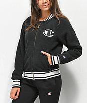 Champion chaqueta bomber de sherpa negra