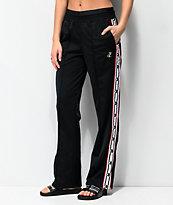 Champion pantalones de chándal negros y blancos con cinta