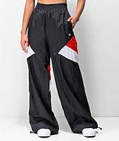 Champion pantalones de nylon rojo, blanco y azul marino