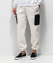 Champion pantalones de sherpa blanco