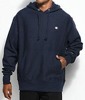 Champion sudadera con capucha azul marino de tejido inverso