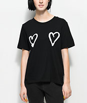 Cheap Monday Breeze Double Love camiseta negra