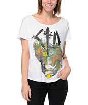 Civil CTD Skull White Scoop Neck T-Shirt