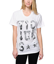 Civil Vicious 3.1 White Boyfriend Fit T-Shirt