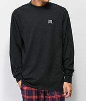 Common camiseta negra de manga larga con cuello subido