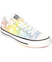 Converse CTAS Ox Pride Pack White & Multi-Colored Shoes