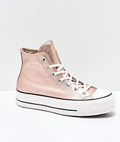 Converse Chuck Taylor All Star zapatos en beige metálico de plataforma