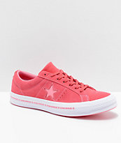 Converse One Star Pinstripe Paradise Pink & Geranium Skate Shoes