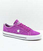 Converse One Star Pro Icon zapatos skate en violeta y blanco