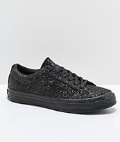 Converse One Star zapatos skate de brillo negro