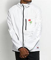 Converse X Chocolate chaqueta cortavientos empacable en blanco
