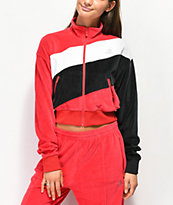 Converse chaqueta de chándal roja, negra y blanca