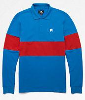 Converse x Golf Wang Le Fleur Blue Long Sleeve Polo Shirt