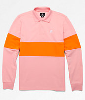 Converse x Golf Wang Le Fleur Pink Long Sleeve Polo Shirt