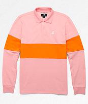 Converse x Golf Wang Le Fleur camiseta polo rosa de manga larga