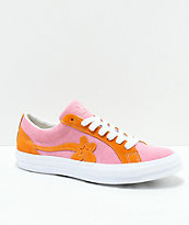 Converse x Golf Wang One Star Le Fleur Pink & Orange Peel Skate Shoes
