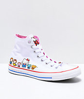 Converse x Hello Kitty Chuck Taylor zapatos blancos