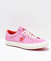 Converse x Hello Kitty One Star Pink & White Skate Shoes