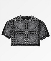 Converse x Miley Cyrus Bandana Boxy Crop Track T-Shirt