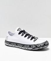 Converse x Miley Cyrus White & Black Bandana Shoes