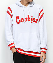 Cookies Alumni Hall sudadera blanca con capucha de rizo francés
