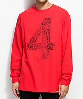 Cookies x 4 Hunnid camiseta roja de manga larga