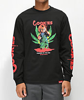 Cookies x Chucky Friends camiseta negra de manga larga