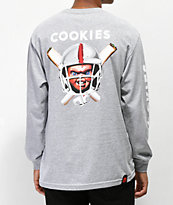 Cookies x Chucky Helmet camiseta gris de manga larga