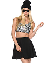 Crooks and Castles Paisley Crop Tank Top