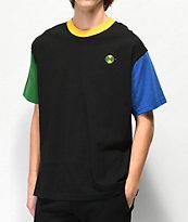 Cross Colours Colorblock Black T-Shirt
