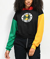 Cross Colours Colorblock Crop Hoodie