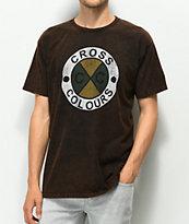 Cross Colours Logo camiseta negra con lavado acido
